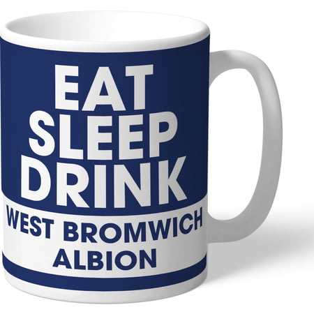 Personalised West Bromwich Albion FC Eat Sleep Drink Mug