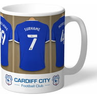 Personalised Cardiff City Dressing Room Shirts Mug