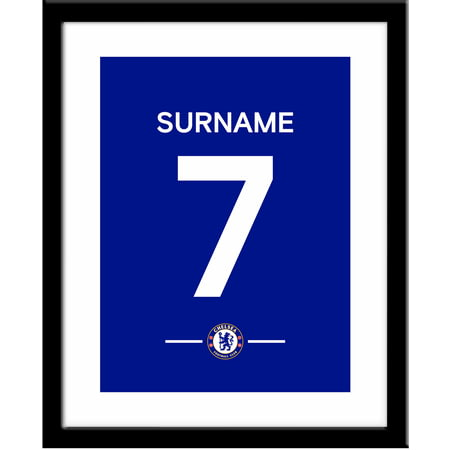 Personalised Chelsea FC Player Shirt Framed Print