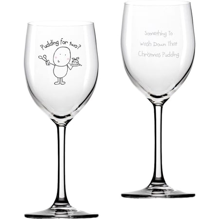 Personalised Chilli & Bubble's Christmas Pudding Wine Glass