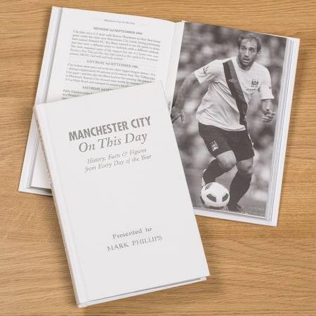 Personalised Manchester City On This Day Football History Book