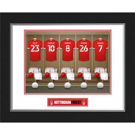 Personalised Nottingham Forest FC Dressing Room Shirts Photo Folder