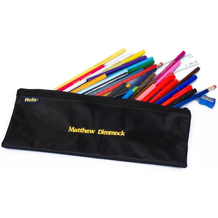 Personalised Pencil Case & Contents Black