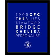 Personalised Chelsea FC Word Collage Framed Print