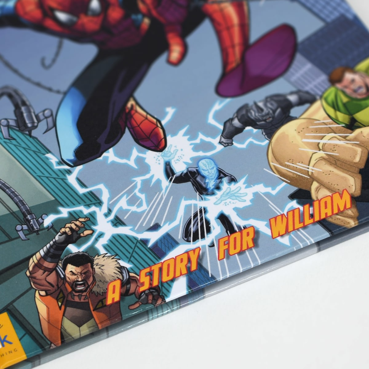 buy your personalised spiderman beginnings story book from go find