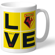 Personalised Watford FC Love Mug