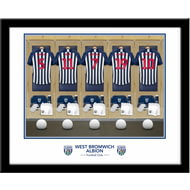 Personalised West Bromwich Albion FC Dressing Room Framed Print