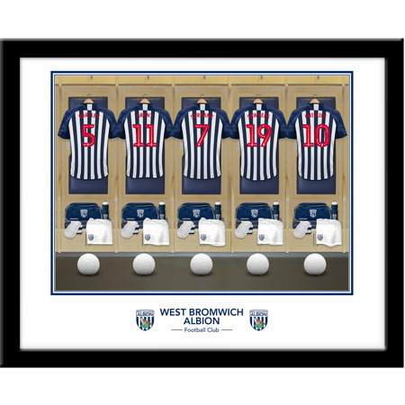 Personalised West Bromwich Albion FC Dressing Room Shirts Framed Print