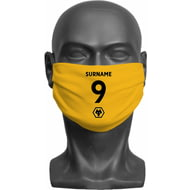 Personalised Wolves Back Of Shirt Adult Face Mask
