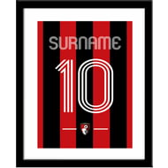 Personalised AFC Bournemouth Retro Shirt Framed Print