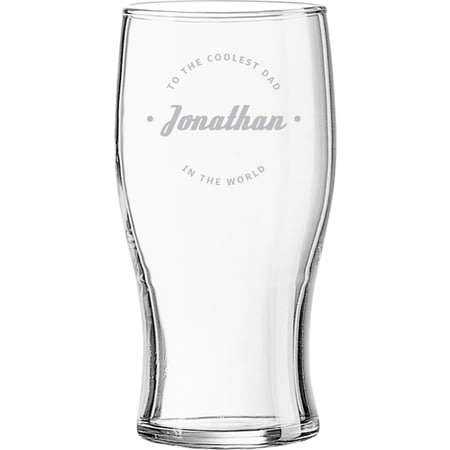 Personalised Coolest Dad Ever Beer Pint Glass