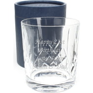 Personalised Engraved Cut Crystal Whisky Glass Tumbler