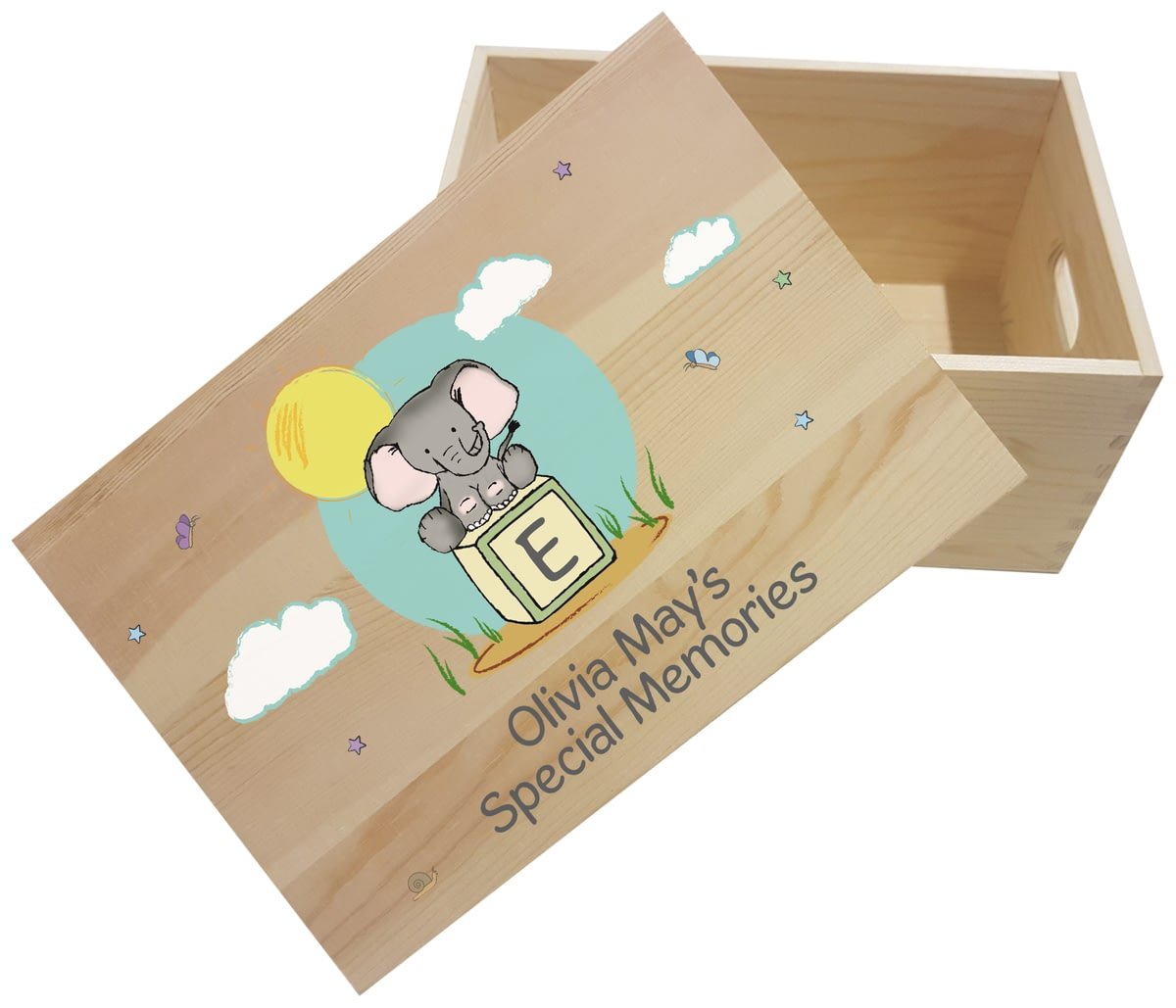 Personalised Elephant Safari Wooden Memory Box From Go Find A Gift