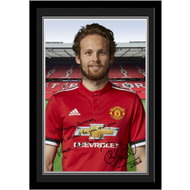 Personalised Manchester United FC Blind Autograph Photo Framed