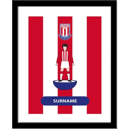 Personalised Stoke City Player Figure Framed Print
