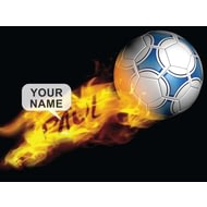 Personalised Flaming Football Poster