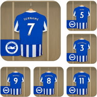 Personalised Brighton & Hove Albion FC Dressing Room Shirts Coasters Set of 6