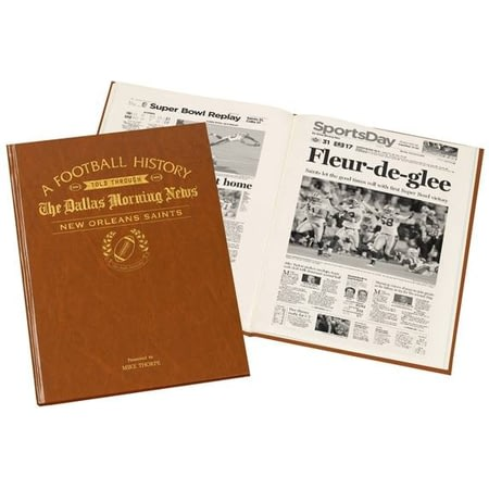 Personalised Dallas Morning News New Orleans Saints Football Book