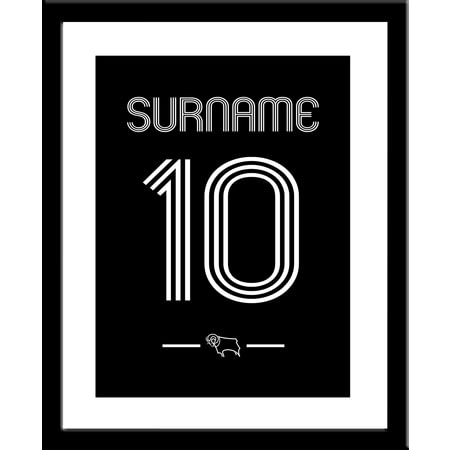 Personalised Derby County Retro Shirt Framed Print