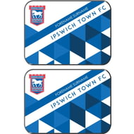 Personalised Ipswich Town FC Patterned Rear Car Mats