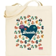 Personalised Jackie 'Ditsy Heart' Tote Bag