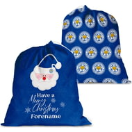 Personalised Leicester City FC Merry Christmas Santa Sack