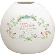 Personalised Spring Garden Bone China Vase