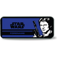 Personalised Star Wars Han Solo Pop Art Silver Pencil Tin