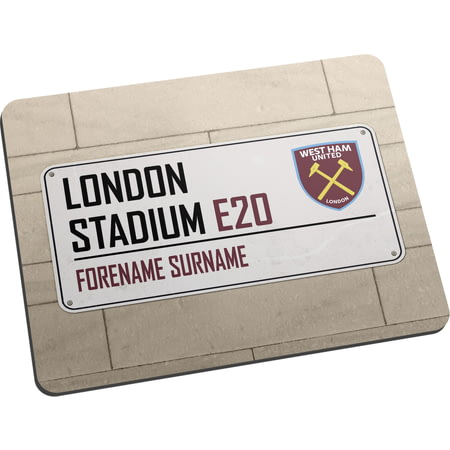 Personalised West Ham United FC Street Sign Mouse Mat