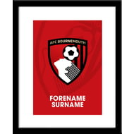 Personalised AFC Bournemouth Bold Crest Framed Print