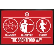 Personalised Brentford FC Way Rubber Backed Door Mat