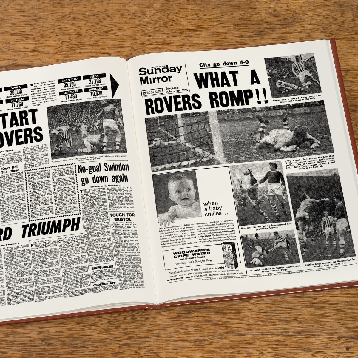 buy your personalised bristol rovers football newspaper