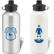 Personalised Cardiff City Player Figure Water Bottle