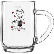 Personalised Graffiti Wedding Character 1/2 Pint Tankard