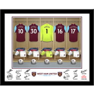 Personalised West Ham United FC Goalkeeper Dressing Room Shirts Framed Print
