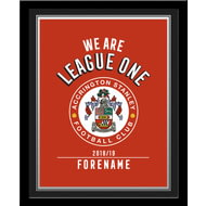 Personalised Accrington Stanley FC We Are League One Photo Framed