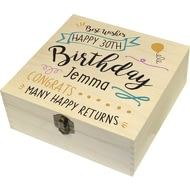 Personalised Birthday Slogan Memory Box