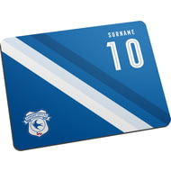 Personalised Cardiff City Stripe Mouse Mat