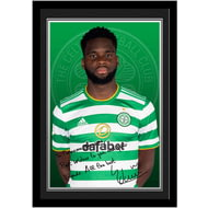 Personalised Celtic FC Edouard Autograph Photo Framed