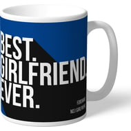 Personalised Chelsea FC Best Girlfriend Ever Mug