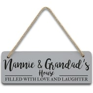 Personalised Filled With Love And Laughter House Sign