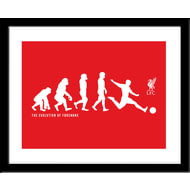 Personalised Liverpool FC Evolution Framed Print