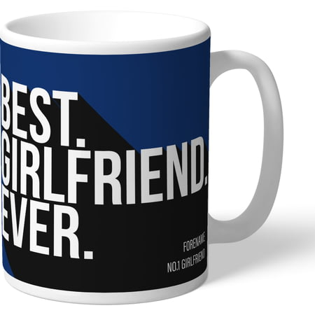 Personalised Millwall FC Best Girlfriend Ever Mug