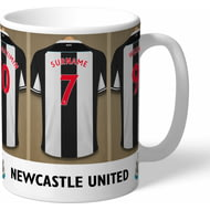 Personalised Newcastle United FC Dressing Room Shirts Mug