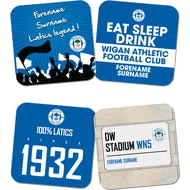 Personalised Wigan Athletic FC Coasters