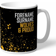 Personalised Wolves Proud Mug