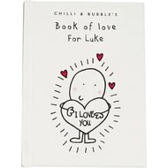 Personalised Chilli & Bubble's Book Of Love For Him