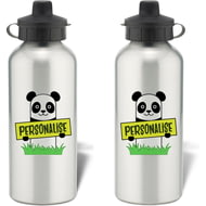 Personalised Kids Panda Aluminium Water Bottle