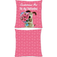 "Personalised Wallace And Gromit ""Be My Valentine"" Cushion - 45x45cm"