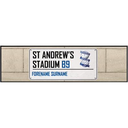 Personalised Birmingham City St Andrews Stadium Street Sign Large Bar Runner